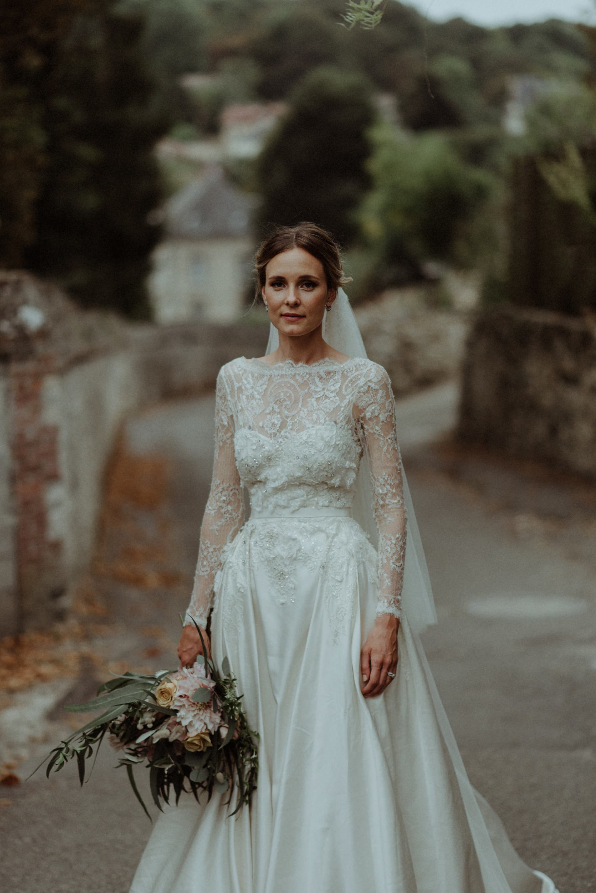 french bride portrait