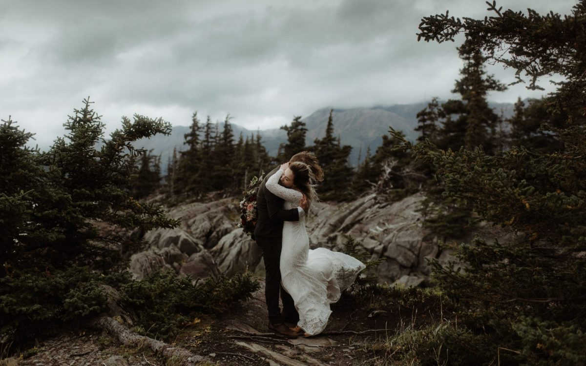 Outdoor Wedding In Alaska // Kristian & Caleb