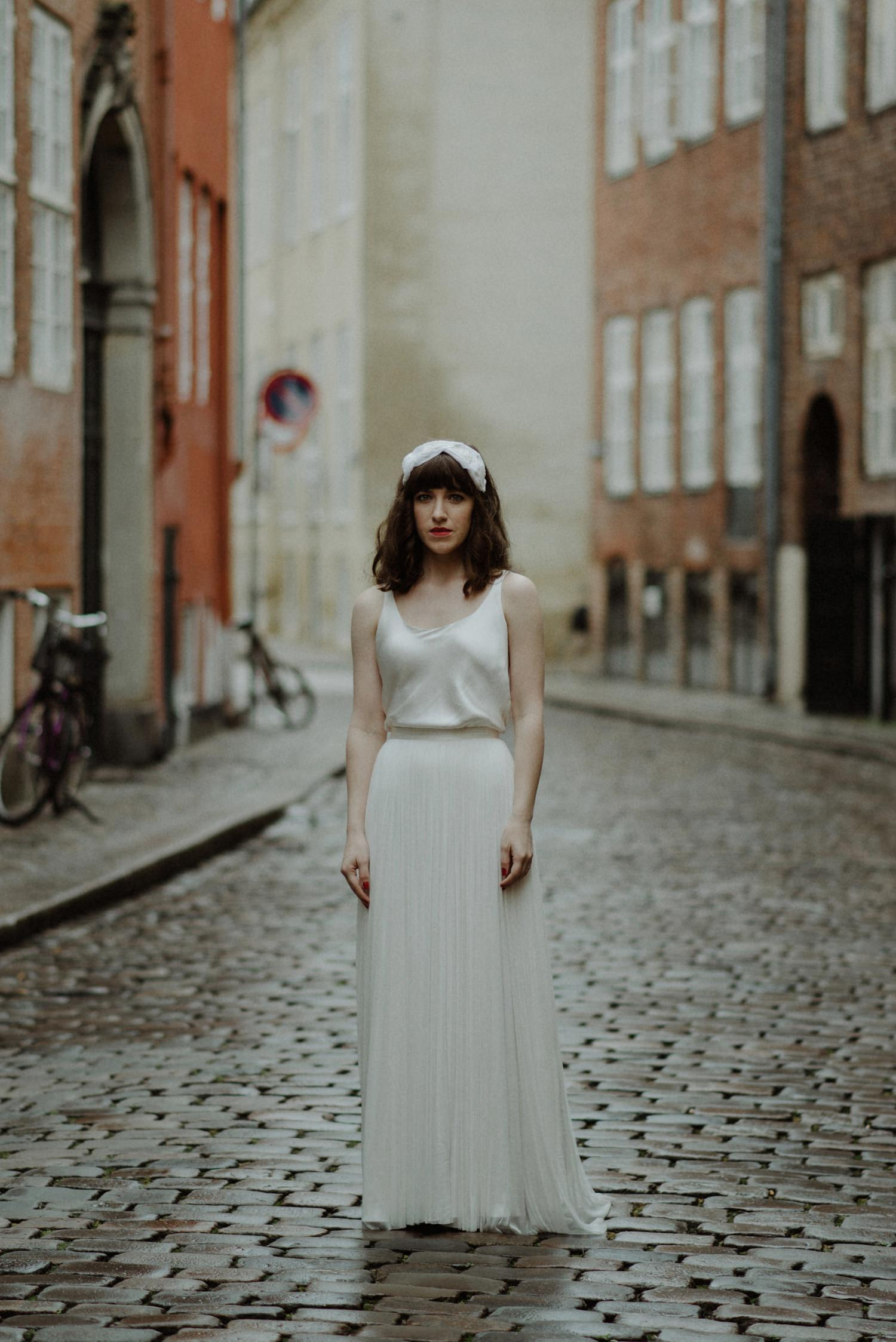 portrait of bride in copenhagen