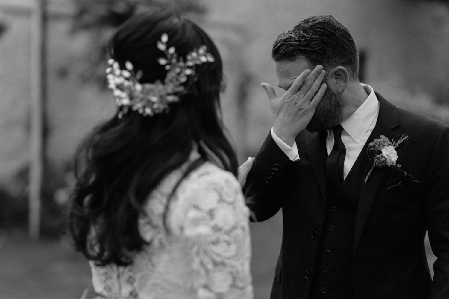 groom crying