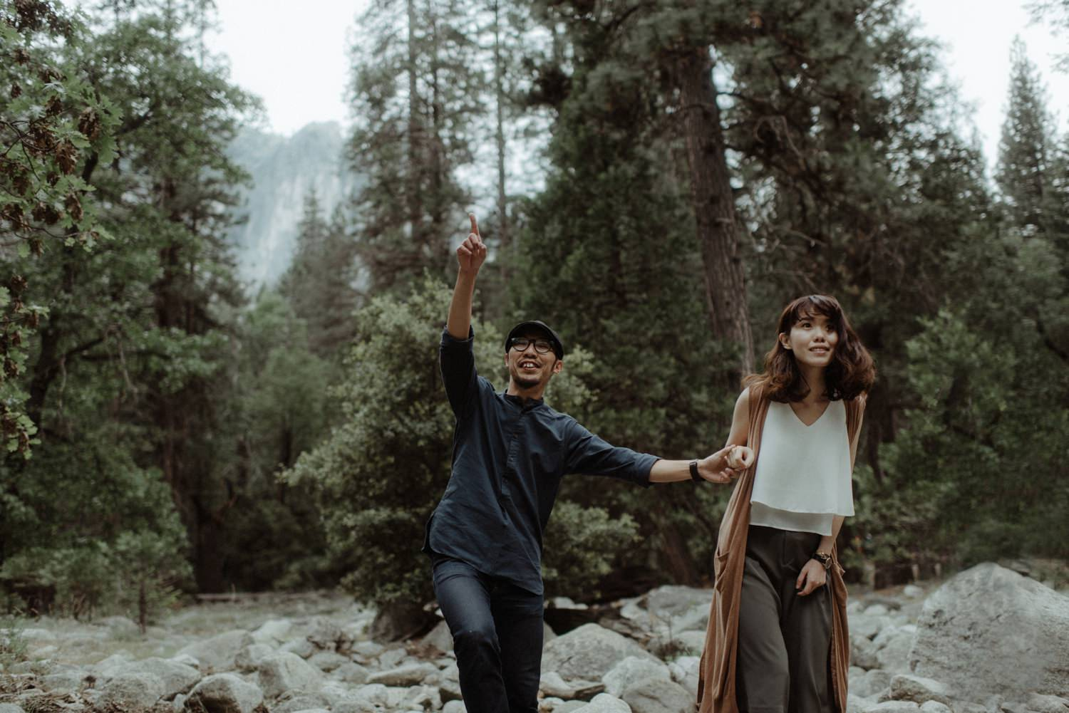 couple at yosemite national park