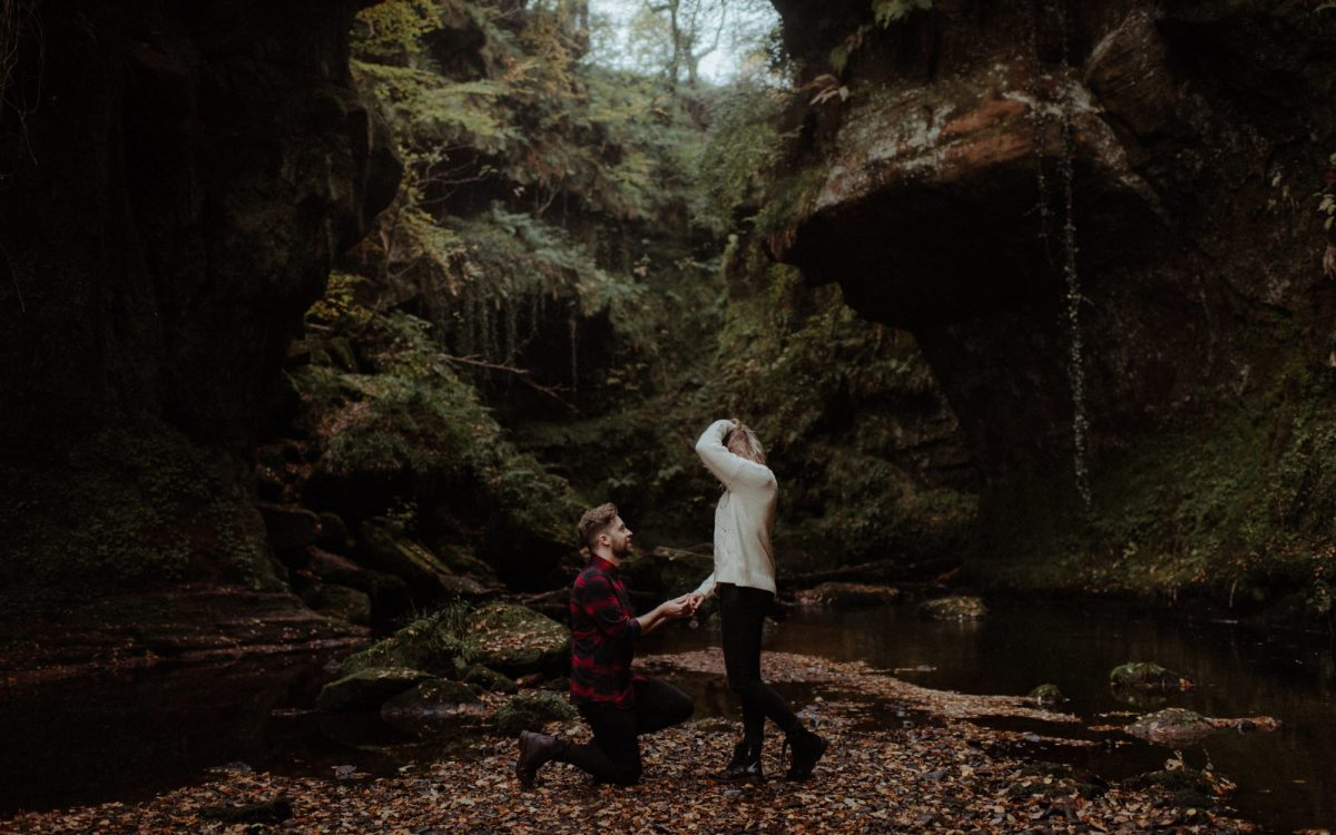 Surprise Marriage Proposal at The Devil's Pulpit // Martyna & David