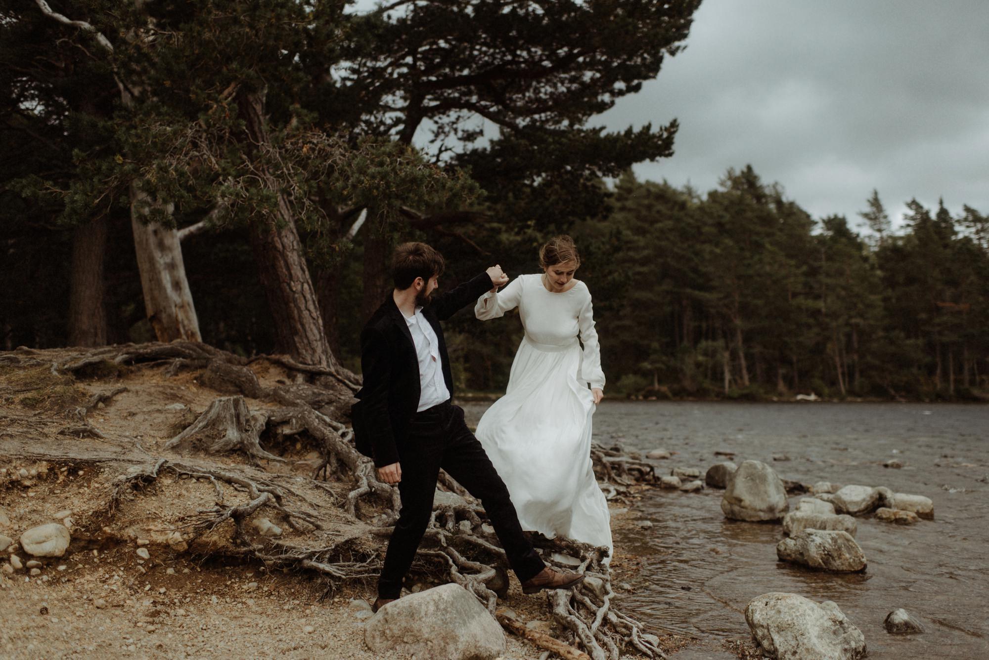 loch an eilein elopement photography 0208
