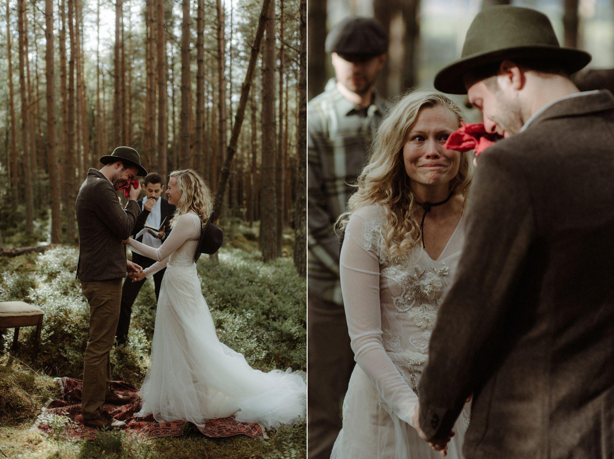 emotional wedding at inshriach house 0131